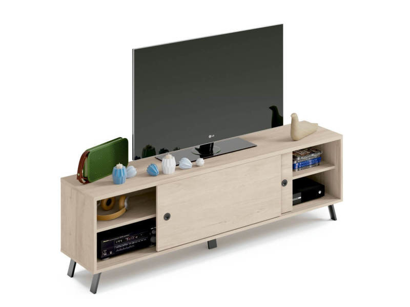 Bobochic meuble tv 160cm katya bois clair