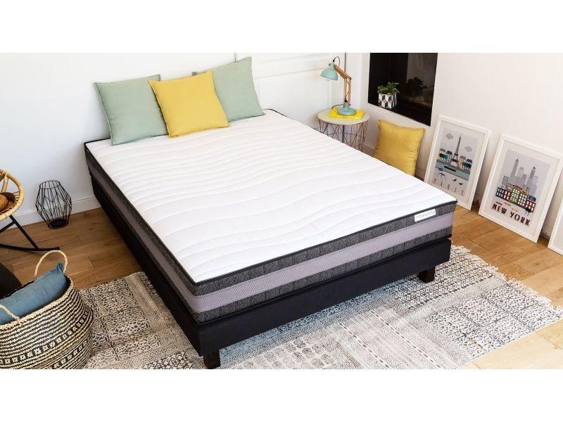 ensemble matelas m moire sommier 160x200 memo confort hbedding mousse haute densit. Black Bedroom Furniture Sets. Home Design Ideas