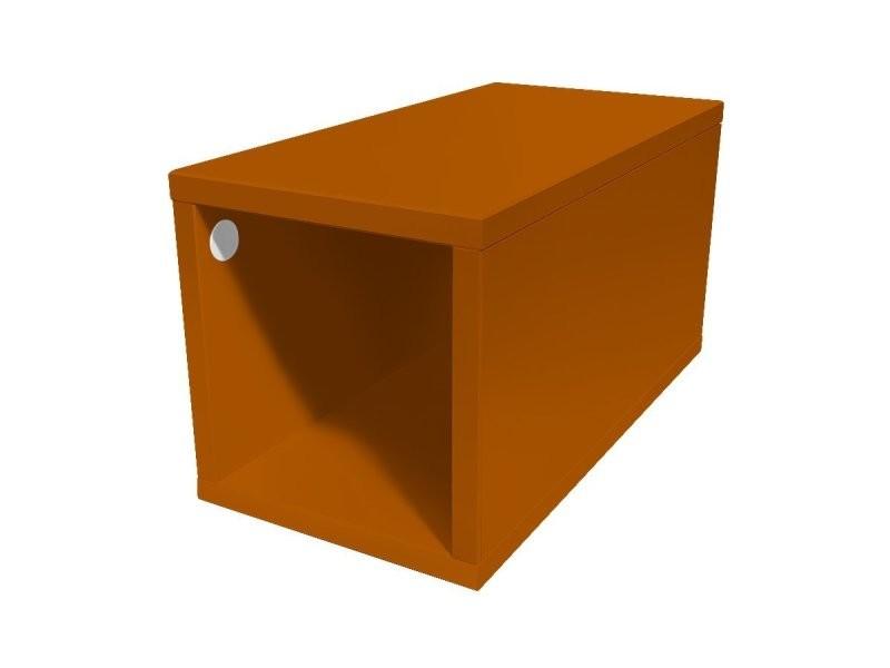 Cube de rangement bois 25x50 cm 25x50 chocolat CUBE25-CH