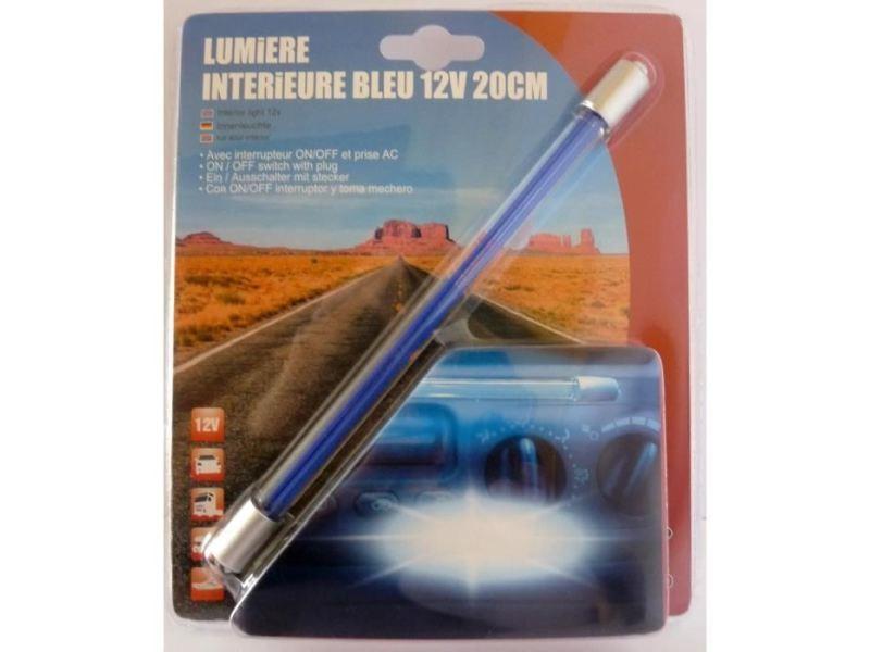 Icaverne tube lumineux - tube led neon interieur 20 cm - 12v - bleu