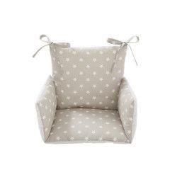 Coussin de chaise haute bébé etoile