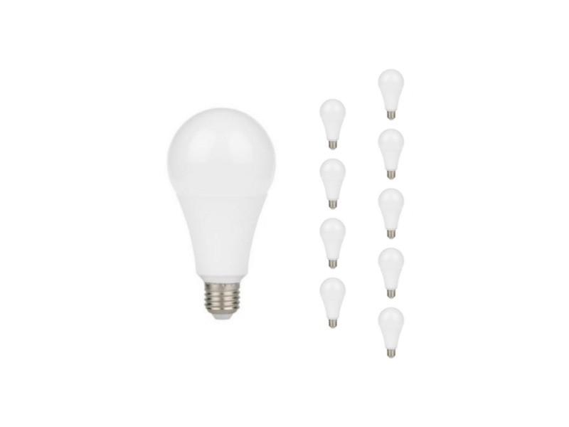 Ampoule e27 led 9w a60 220v 230° (pack de 10) - blanc chaud 2300k - 3500k