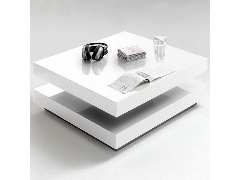 Table basse design hubic blanche mate 20100871985 conforama - Table basse conforama blanche ...