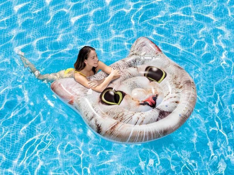 Matelas de piscine chat - intex