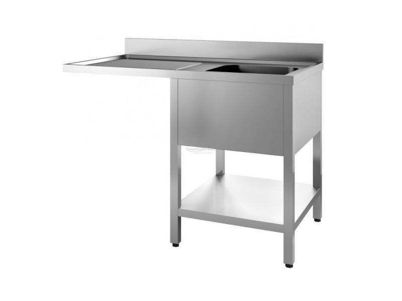 Plonge inox - emplacement lave-vaisselle - combisteel - 400x500x250 1200x700