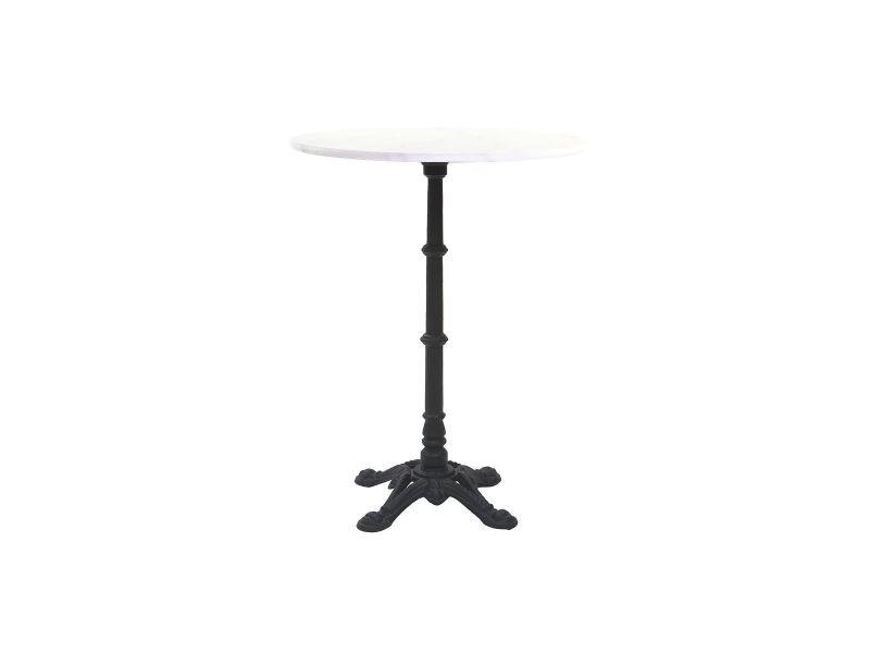 Table bistrot haute ronde en marbre et métal conty - Vente de TESORO ...