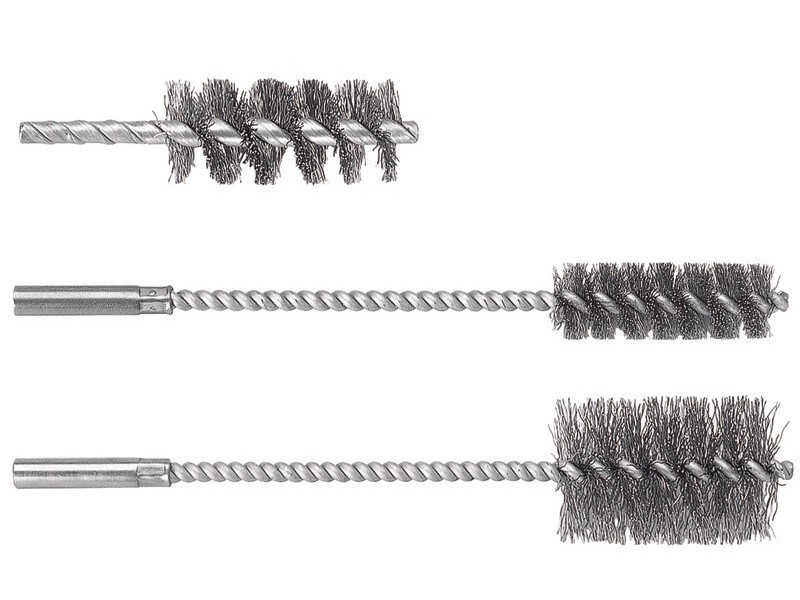 Wolfcraft - 1 brosse métal cylindrique tige 6mm ø28x60x90mm - 2104000