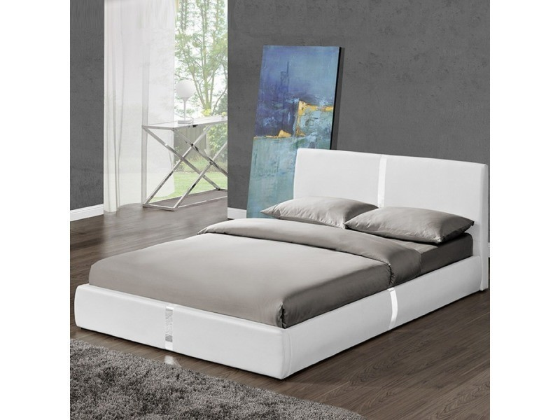 lit avec sommier lattes 140x190 ulysse vente de meubler design conforama. Black Bedroom Furniture Sets. Home Design Ideas