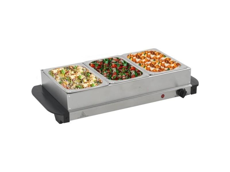 Joli électroménager de cuisine gamme le caire serveur buffet acier inoxydable 200 w 3x1,5 l