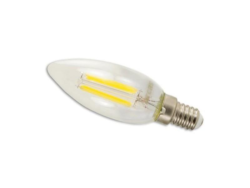 Ampoule à filament led arcas 4 watts (=35w) blanc-chaud 3000k e14 (410 lumens)