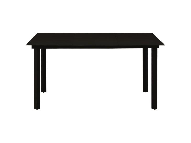 Vidaxl mobilier à dîner d'extérieur 7 pcs rotin pvc noir 3058284