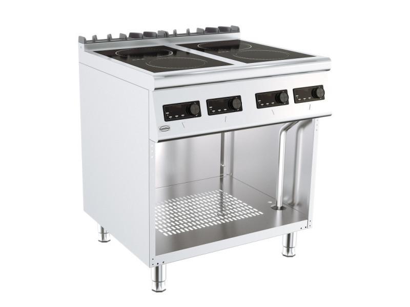 Fourneau sur meuble induction gamme 700 - 4 plaques - combisteel -