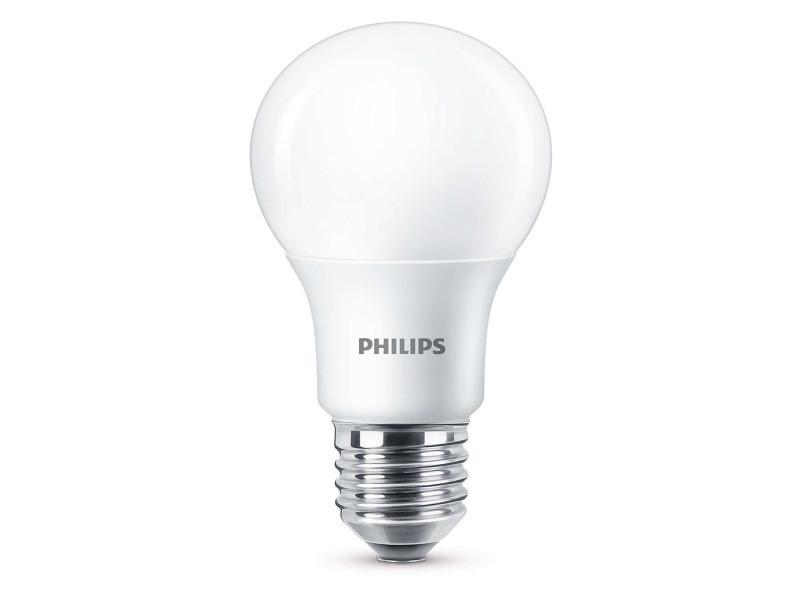 Philips ampoule led standard e27 8w (60w) 2700k blanc chaud (lot de 2)