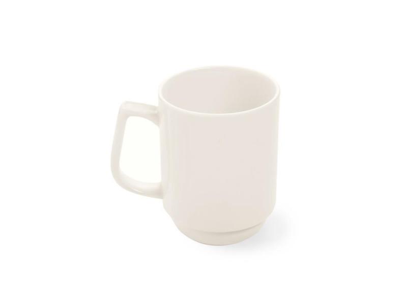 Mug porcelaine empilable crema 250 ml - lot de 12 - fine dine - porcelaine 25 cl