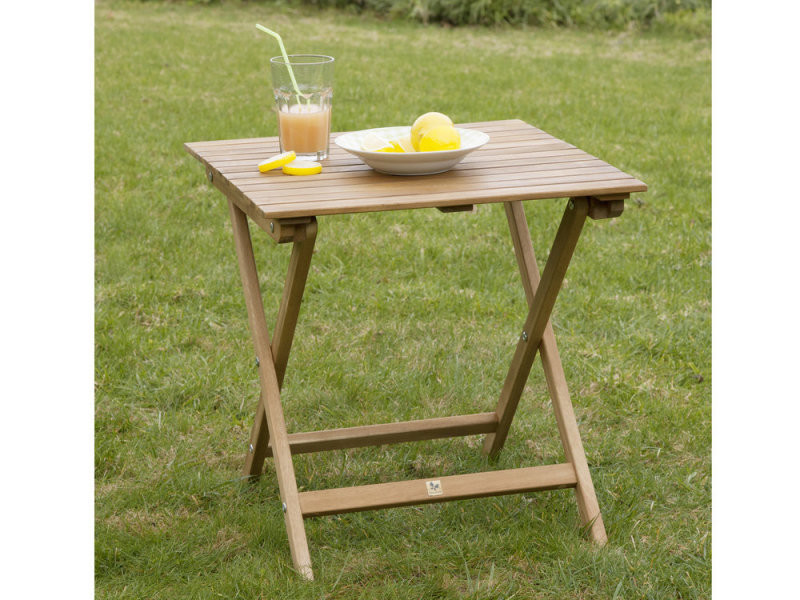 Table basse de jardin en acacia couleur teck cenari - Vente de Salon ...