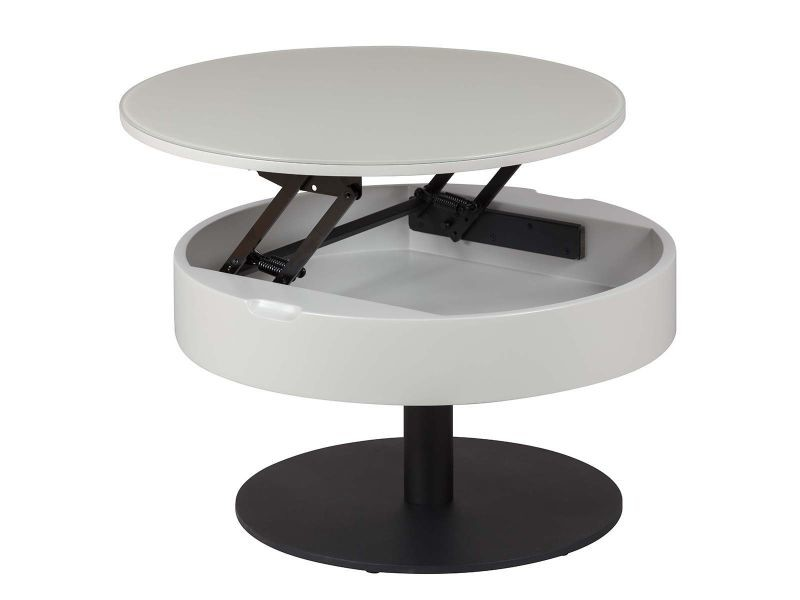 Spion - table basse relevable gris clair et anthracite