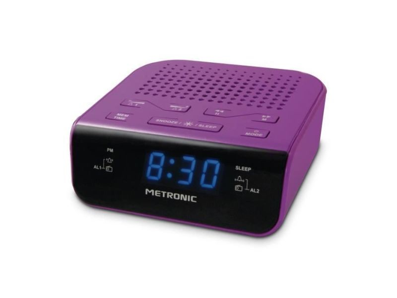 Icaverne radio reveil met 477012 radio réveil pop purple
