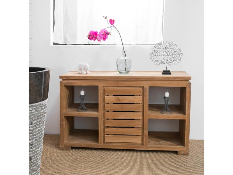 meuble commode buffet salle de bain en teck massif 120 cm 31050c vente de armoire colonne. Black Bedroom Furniture Sets. Home Design Ideas