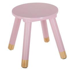 Tabouret douceur rose pour enfant en bois
