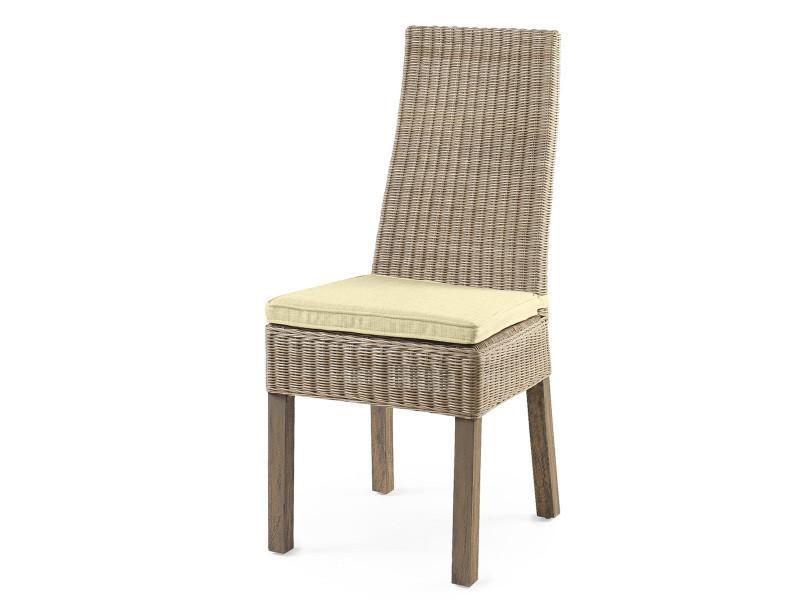 Destockage chaise calvi en osier vente de chaise conforama