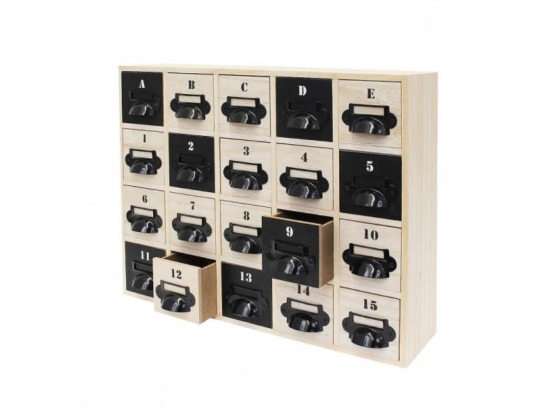 Meuble de rangement 20 tiroirs loft design vente de for Meuble de rangement sejour