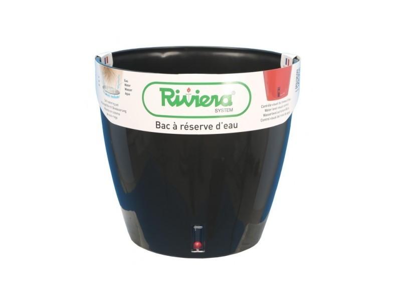Pot eva rond diametre 36cm noir - riviera