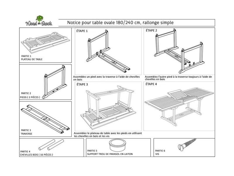 Salon en teck 10 places finition huilé- table de jardin 240 cm ...