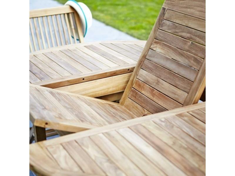 Salon de jardin en bois de teck 8/10 places - Vente de Salon ...