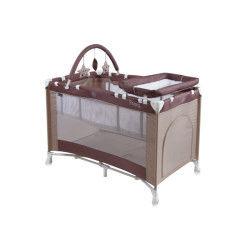 Lit parapluie bébé / lit pliant à 2 niveaux penny 2+ marron