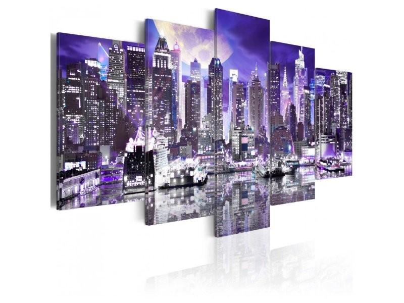 Tableau moonlit night in new york city A1-N3074-DKXPWD