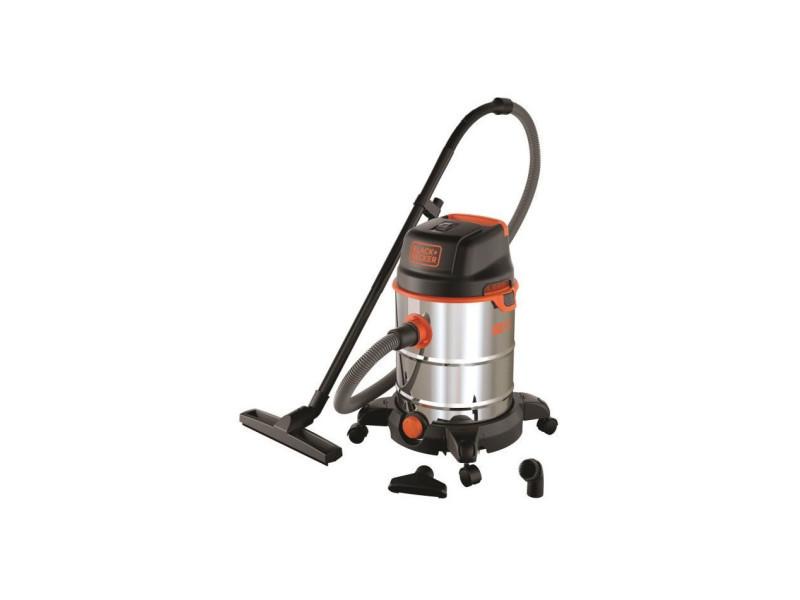 Black & decker aspirateur eau et poussiere sur roues 1600 w cuve en inox 30 l BXVC30XDE51688