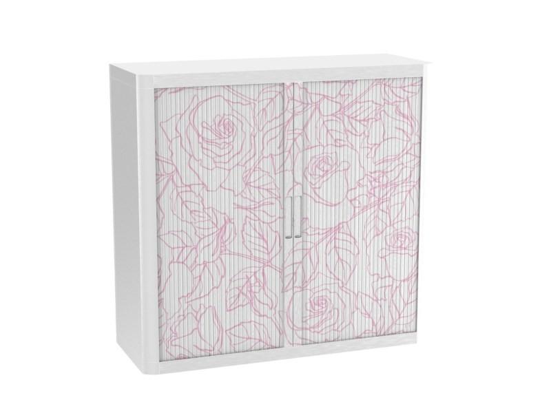 Armoire de bureau métalique porte coulissante h 1m - rosas