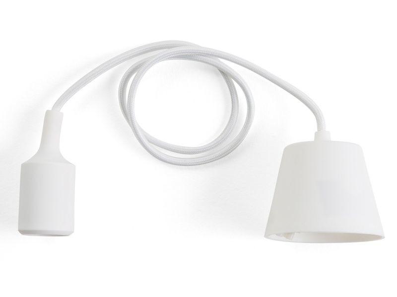 En Suspension De Vente Lampe Blanc 64795 Beliani Araks Silicone SMLqzGUpVj