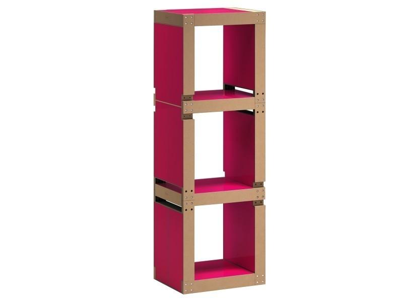biblioth que colonne modulable en bois polym re vente de. Black Bedroom Furniture Sets. Home Design Ideas