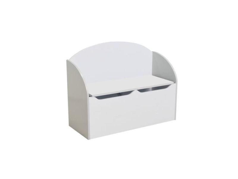 Tresor coffre a jouets blanc vente de demeyere conforama