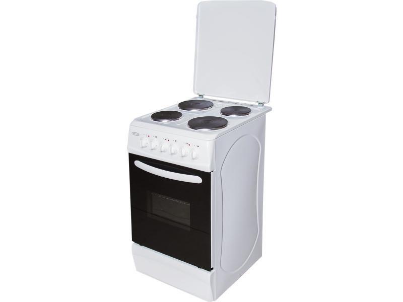 Brandy best bce50 cuisinière blanche avec couvercle 50x60cm tout électrique classe a BCE50