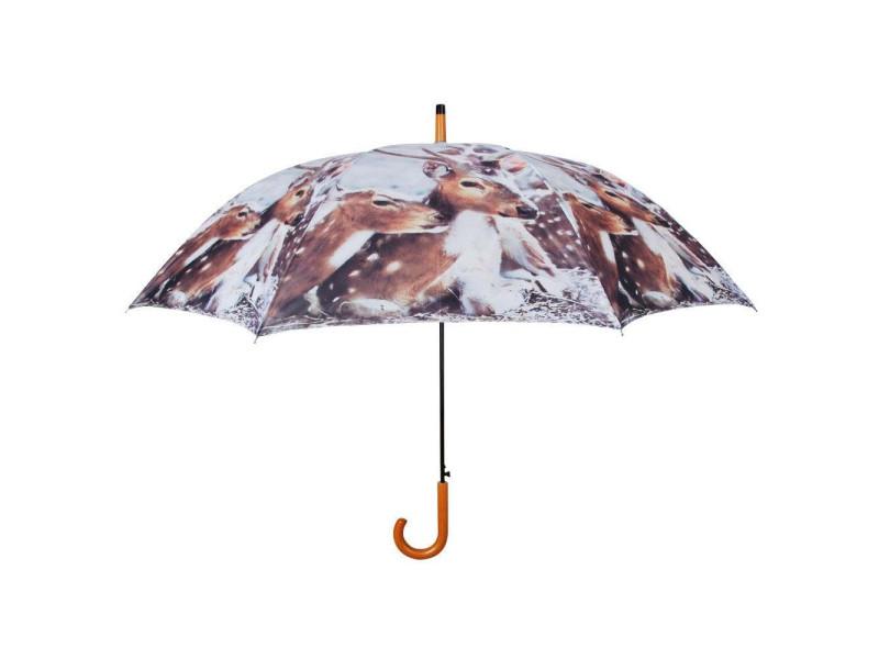 Parapluie daim en nylon et bois daim