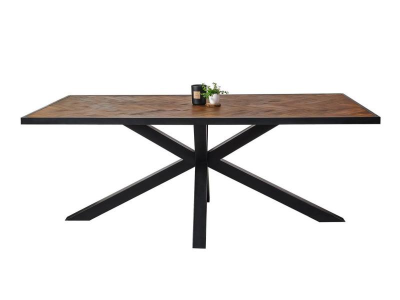 Bobochic table 200 cm tailt bois acacia massif et pieds métal