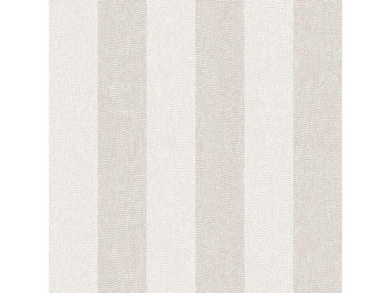Papier peint intissé rayures pureté soyeuse vinyle expansé 1005 x 52cm ivoire, taupe 104766