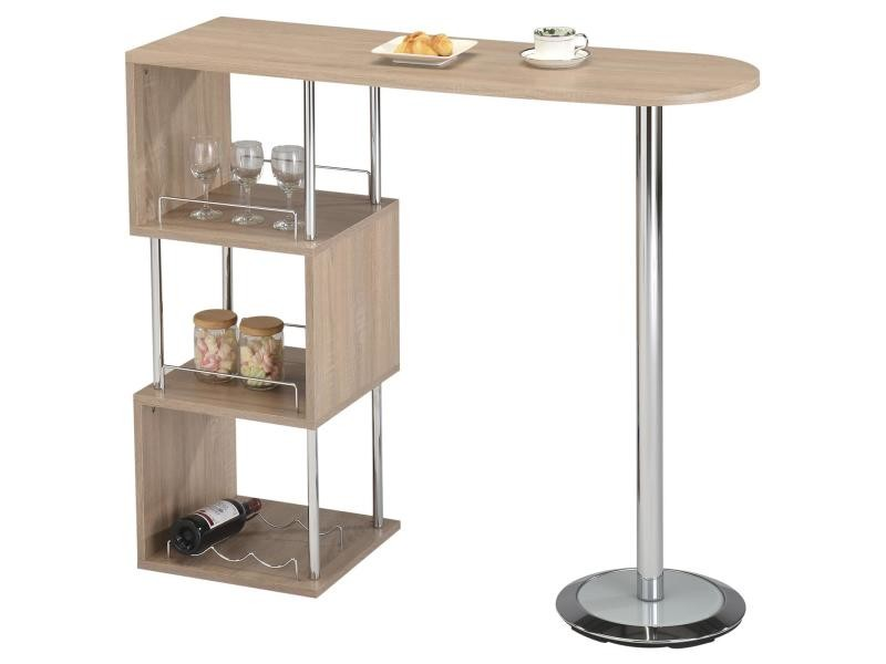Simple superior table de bar haute conforama table haute for Conforama table cuisine avec chaises