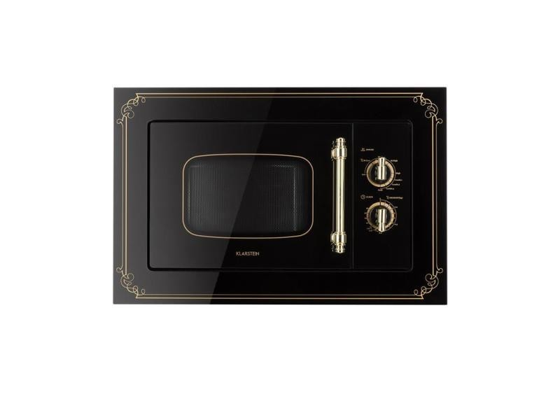 Klarstein victoria 20 four micro-ondes encastrable 20l 800 w grill 1000w - noir