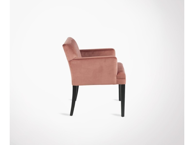 Fauteuil Design Rigide Velours Nappo Rose Pale Vente De Tous Les