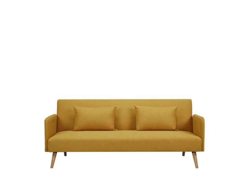 nielson canap convertible scandinave 3 places couleur jaune moutarde dy lab 173n52 p3 bt. Black Bedroom Furniture Sets. Home Design Ideas