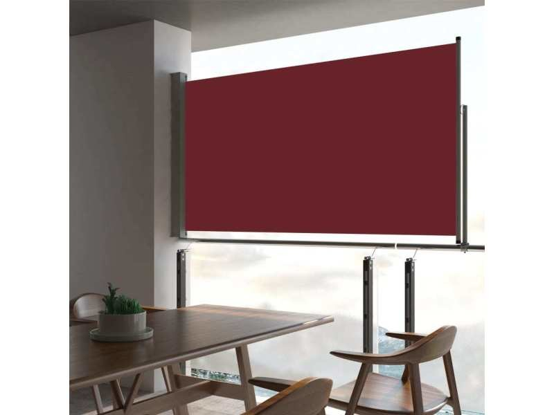 Stylé vie en extérieur selection manama auvent latéral rétractable de patio 160x300 cm rouge