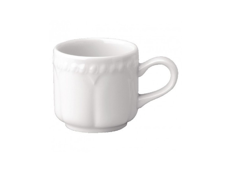 Tasse à café 114ml empilable buckingham churchill - vendus par 24 - 0 cm porcelaine 11,4 cl