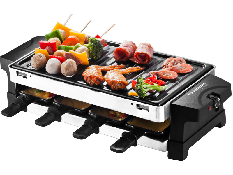 Raclette party luxe 2-en-1