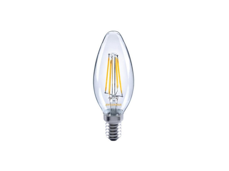 Sylvania ampoule led a filament toledo retro candle e14 4w équivalence 35w