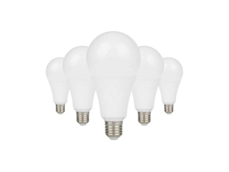 Ampoule e27 led 9w a60 220v 230° (pack de 5) - blanc chaud 2300k - 3500k