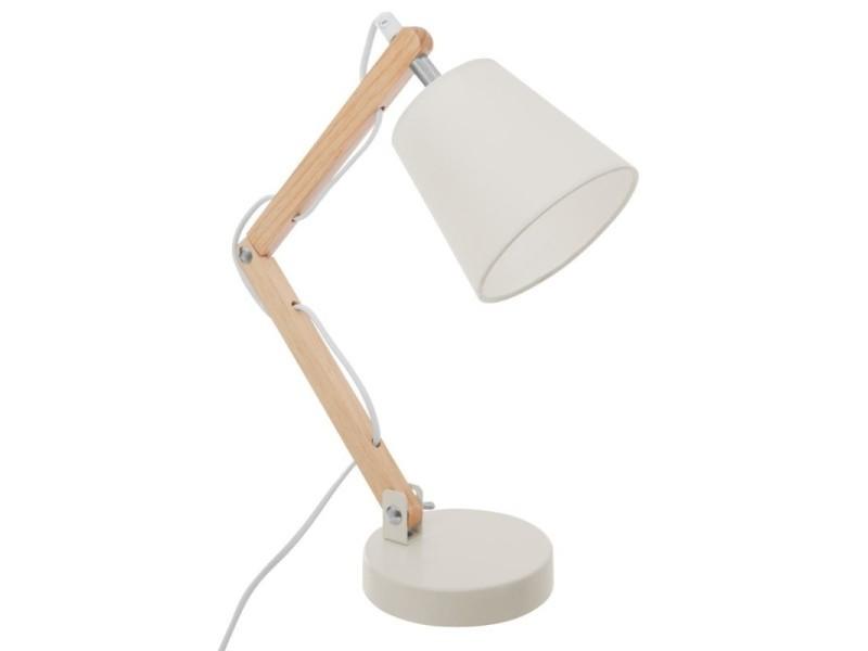 Lampe de bureau trépied style nordique bois blanc vente de