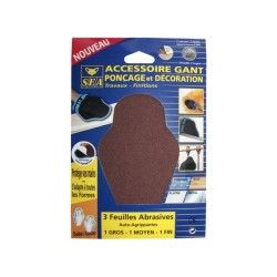 Pochette abrasifs x3 gros grain sea